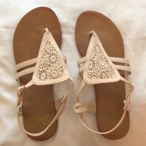 Tan Strapy Sandals